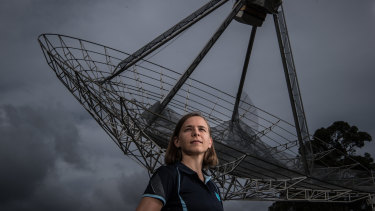 Lisa Harvey-Smith at the CSIRO Astronomy and Space Science headquarters in Marsfield, Sydney.