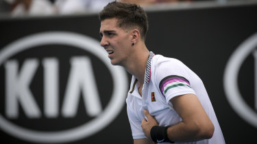 Thanasi Kokkinakis pulled out of the 2019 Australian Open after suffering soreness.
