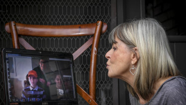 Jayne Minchin will make do with video-calling her daughter, Summer, and grandchildren Maverick, 12, and Chris, 9.