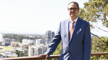 The United States is 'open for business': US consul-general in Perth David J Gainer at Kings Park this week.