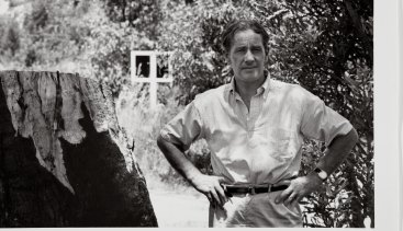 Sidney Nolan in Western Australia in 1962, the year he travelled to Auschwitz.