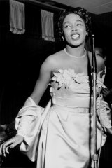 Sarah Vaughan pictured in 1960.