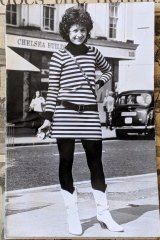 Sarah Jane's first fashion moment in the early 1980s.
