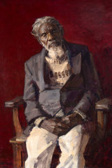 A highlight of the exhibition: Robert Hannaford's Jarinyanu David Downs, 1995.