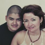 Amaru Bestrin, who died of a heroin overdose in a hospital toilet, and his mother, Lorena.
