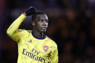 Eddie Nketiah was on target for the Gunners.
