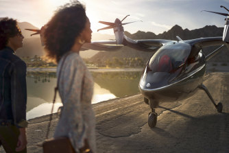 """United Airlines has invested in Archer Aviation, with a commitment to buy up to 200 of its """"flying taxis"""", dubbed the Maker."""