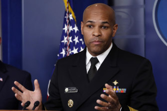 """""""Our Pearl Harbour, our 9/11"""": US Surgeon General Jerome Adams."""