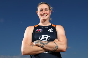 Tayla Harris says she is feeling physical.