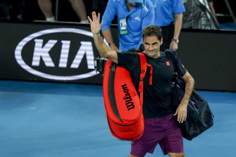Roger Federer in last year's Australian Open semi-final.