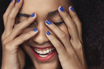 Bring back blue into your blue routine with nail polish.