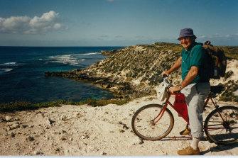 Gerald Robinson visiting Rottnest Island in 2002.