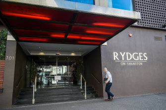 Unified Security provided guards at hotels including Rydges on Swanston,  the source of the most significant outbreak from hotel quarantine.