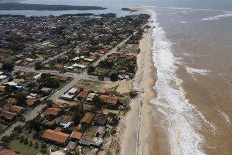 View of Atafona, Rio de Janeiro state, Brazil.