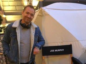 Aussie screenwriter Joe Murphy on the set of Younger.