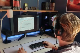 Alex Forward is sitting his HSC exams this year and relying on high internet speeds.