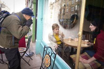 Nicola Sturgeon on the campaign trail in Edinburgh.