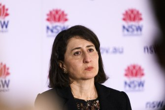 Gladys Berejiklian said NSW would move to home quarantine once vaccination levels picked up.