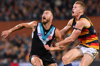 Charlie Dixon was a strong presence for Port Adelaide.