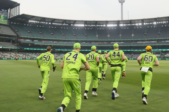 There was a poor turnout at the MCG for Thursday's BBL finals clash between the Thunder and Stars.