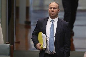 Treasurer Josh Frydenberg in Canberra today.