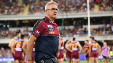 Chris Fagan was flat after Brisbane's qualifying final loss to Richmond.