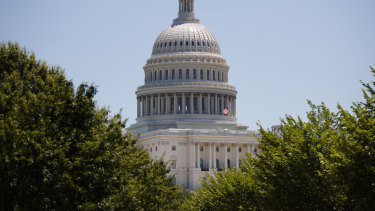 The US Capitol dome is seen in Washington.