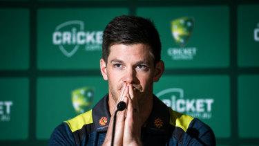 Australian Test captain Tim Paine at the MCG on Monday.
