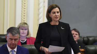 Opposition leader Deb Frecklington will deliver her budget reply speech on Thursday.