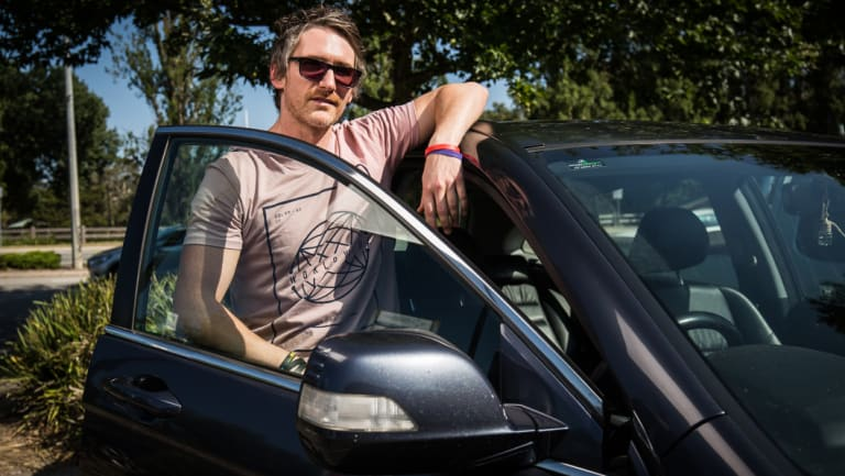 Chris Bowden has owned his car for three years and says short term registration options are a lifesaver.