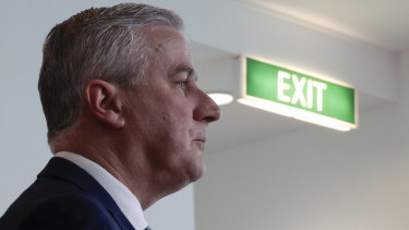 Deputy Prime Minister Michael McCormack at Parliament House on Thursday.