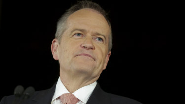 Opposition Leader Bill Shorten at a rally on Thursday.