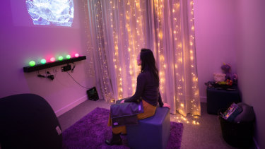 A sensory room in the new Frontyard refuge.