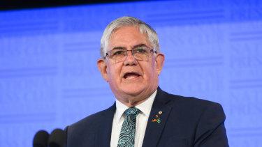 Minister for Indigenous Australians Ken Wyatt speaks at the National Press Club.