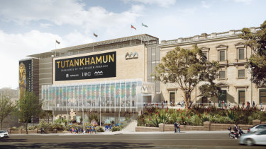 An artist's impression of the Australian Museum extension.