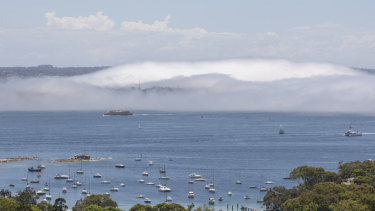 Despite the high temperatures and bright sun, humid air kept the fog hanging around.