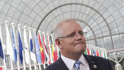 Morrison goes hard on tax as Turnbull 'ancient history' dogs the government