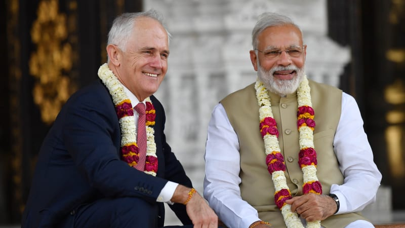 Malcolm Turnbull looks to booming India as a home for Australian super funds