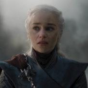 Emilia Clarke as Daenerys Targaryen up in Game of Thrones.