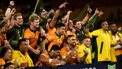 'Not in the spirit of the game': Rennie slams Koroibete red card after dramatic series win for Wallabies