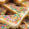 Fairy bread was a staple at parties.