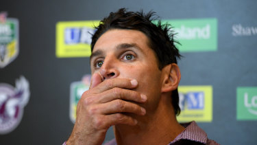 Trent Barrett's comments on Manly's revival have been seen as   insulting to Des Hasler.