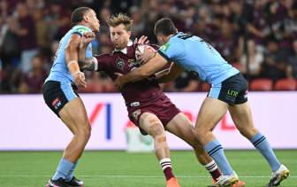 Wally Lewis Medal winner Cameron Munster had a night to remember for Queensland.