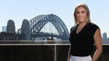 Australian Olympian Sally Pearson at her retirement announcement in Sydney.