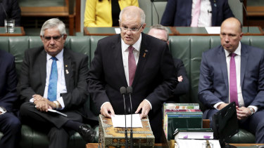 Prime Minister Scott Morrison delivers the Closing the Gap speech.