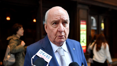 Alan Jones held a stake of about 1.3 per cent in Macquarie.