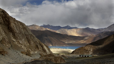 Pangong lake is seen near the India China border in India's Ladakh area.