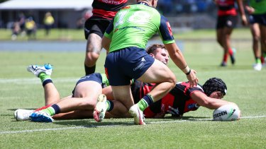 Suaalii scored two tries on an impressive debut for North Sydney against Canberra.