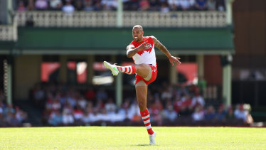Lance Franklin will play game two for 2021 tonight.