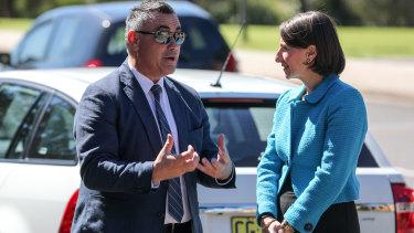 NSW Deputy Premier John Barilaro and Premier Gladys Berejiklian earlier this year.